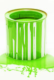 Green oil paint Stock Photo