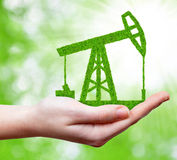 Green oil pump Royalty Free Stock Images