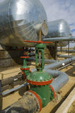 Green oil valve Royalty Free Stock Photos