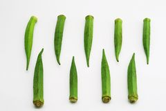 Green okra 1 Royalty Free Stock Images