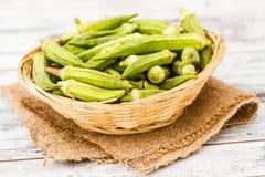 Green Okra Vegetable Stock Image