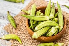 Green Okra Vegetable Royalty Free Stock Photo