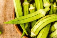 Green Okra Vegetable Stock Photography