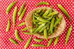 Green Okra Vegetable Stock Photos