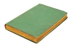 Green old book. Isolated on white Stock Photo