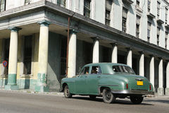 Green old car. A green old classic car at the heart of havana Stock Images