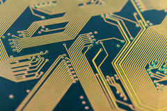 Green old circuit board Royalty Free Stock Photo
