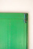 Green old door. With the bolts Stock Photos