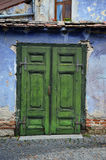 Green old door Royalty Free Stock Images