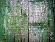 Green old fance. Vintage craked wood stock photography
