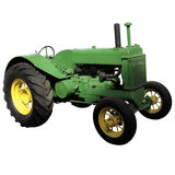 Green old farm tractor Royalty Free Stock Photography