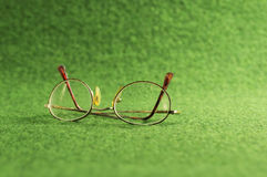 Green old glasses Royalty Free Stock Photo