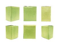 Green Old packaging cardboard Royalty Free Stock Photography