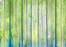 Green old painted wooden background Stock Image