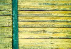 Green old painted wooden door texture as background Royalty Free Stock Images
