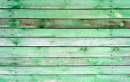 Green old painted wooden door texture as background Royalty Free Stock Photography