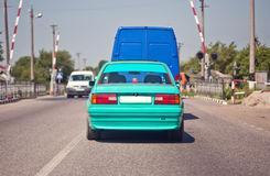 Green old sports car. (BMW E30 Royalty Free Stock Photography