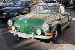 Green old-timer Volkswagen Karmann Ghia Stock Image