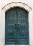 Green old wooden door in Istanbul Royalty Free Stock Image