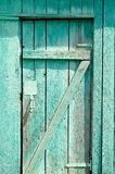 Green old wooden door Royalty Free Stock Photo