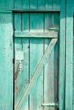 Green old wooden door Royalty Free Stock Photo