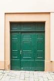 Green old wooden doors Stock Image