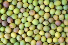 Green olive background. Close up view of green olive background royalty free stock images