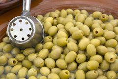 Green Olive Background Stock Photo