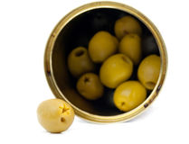 Green olive isolated Stock Image