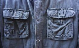 Green olive jeans jacket Stock Image