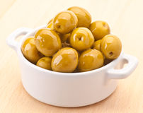 Green olive oiled Royalty Free Stock Image