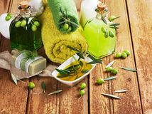 Green olive spa Stock Images