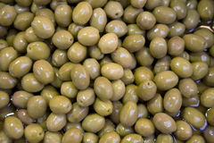 Green olives. A group of green olives Royalty Free Stock Images
