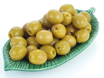 Green olives. Royalty Free Stock Photos