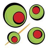 Green Olives Stock Illustration