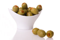 Green olives royalty free stock image