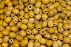Green olives background Royalty Free Stock Image