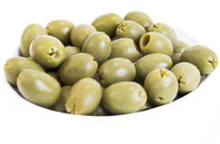 Green olives dish Royalty Free Stock Photo