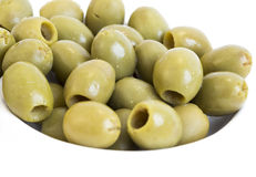 Green olives dish Royalty Free Stock Images