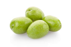 Green olives heap Stock Photos