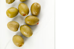 Green olives Royalty Free Stock Photos