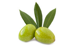 Green olives isolated Stock Image