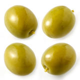 Green olives isolated. collection Royalty Free Stock Photo