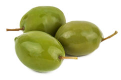 Green olives, isolated Royalty Free Stock Photo