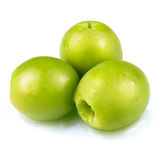 Green olives isolated. Stock Photography