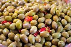 Green olives Stock Images