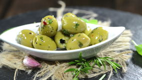 Green Olives (loopable) Royalty Free Stock Photos