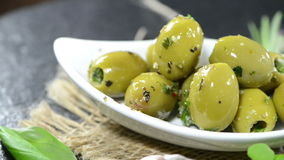 Green Olives (not loopable) Royalty Free Stock Photo