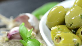 Green Olives (not loopable) Royalty Free Stock Images