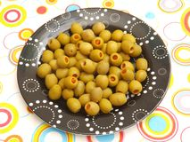 Green olives Stock Image